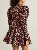 Rotate Floral dress 'Pauline' Black/Multi