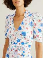 LoveShackFancy Floral dress 'Arlo' White/Blue
