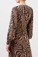 Ganni Wickelkleid mit Tigerprint