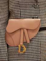 Dior Belt clutch 'Saddle' from calfskin nude
