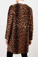 Yves Salomon Lambskin Coat with Animalprint Brown/Leo
