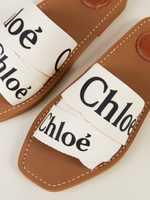 Chloé Sandalen 'Woody Sandals' Weiß