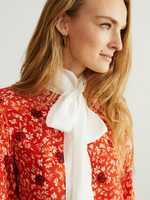 Chloé Viscose blouse with a 'C Micro Flower' motif Red