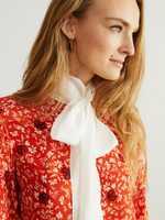 Chloé Viskose-Bluse mit 'C Micro Flower'-Motiv Rot