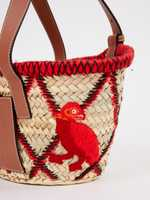 Loewe Tote bag from basket with red details Multi